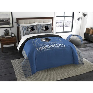 The Northwest Co NBA Timberwolves Minnesota Reverse Slam Blue and Grey Full/Queen 3-piece Comforter Set