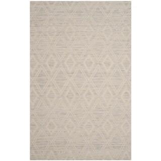 Safavieh Handmade Marbella Asya Modern Wool Rug (5 x 8 - Silver/Ivory)