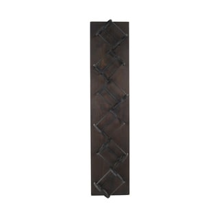 Wood and Metal 36-inch 6-bottle Wall-mount Wine Storage Rack