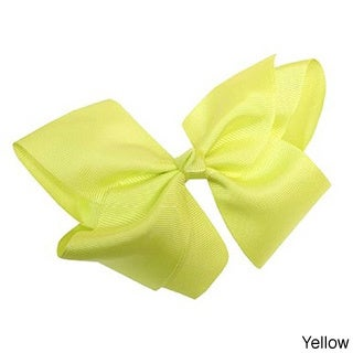 100% Love Bright Colors Grosgrain Ribbon Bows with Alligator Clip (Option: Yelow)