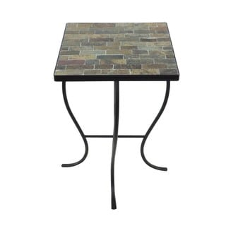 Mosaic Tile Metal Base Square-top Table