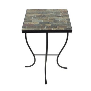 Mosaic Tile Metal Base Square-top Table
