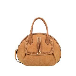 Mellow World Maya Camel Seashell Shape Satchel Handbag