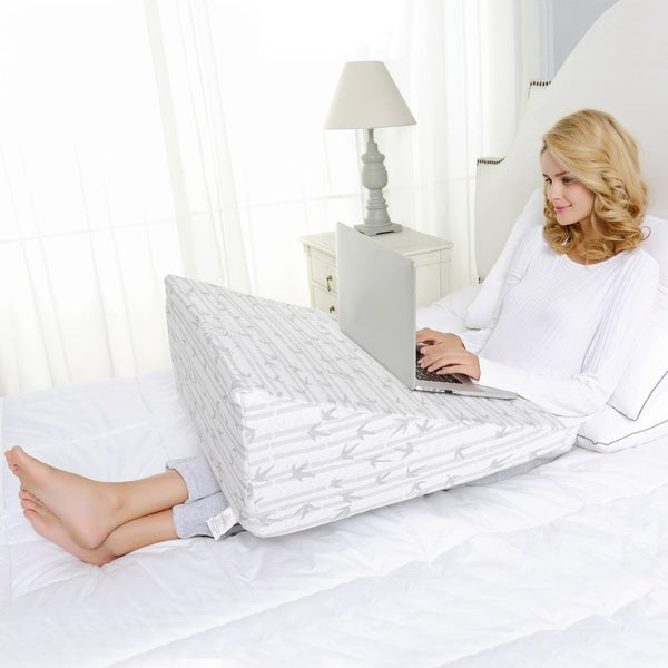 Miranda Haus Therapeutic Design Parker Memory Foam Wedge Pillow - White. Opens flyout.