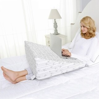Superior Wedge Memory Foam Pillow with Removable Cover