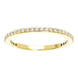 Beverly Hills Charm 10k Yellow Gold 1/4ct TDW Diamond Stackable Anniversary Band