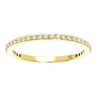 10k Yellow Gold 1/4ct TDW Diamond Stackable Anniversary Band - White H-I