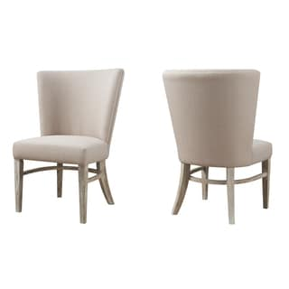Emerald Synchrony Solid Pine Upholstered Seat and Back Side Chair x2