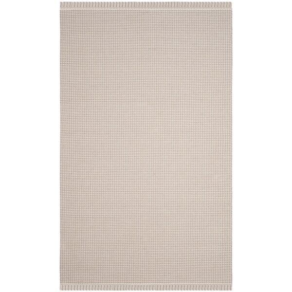 Safavieh Hand-Woven Montauk Flatweave Ivory/ Grey Cotton Rug (4' x 6')