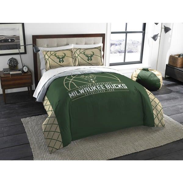 The Northwest Company NBA 849 Bucks Reverse Slam Full/Queen 3-piece Comforters Set