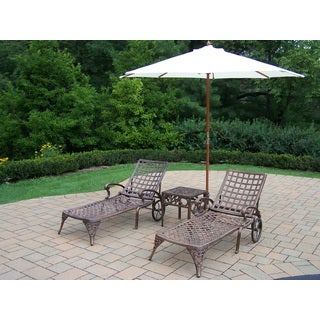 Merit Cast Aluminum 5-piece Umbrella Lounge Set
