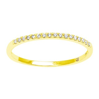 Beverly Hills Charm 14k Yellow Gold 1/12ct. TDW Anniversary Band Diamond Ring (H-I, SI2-I1)