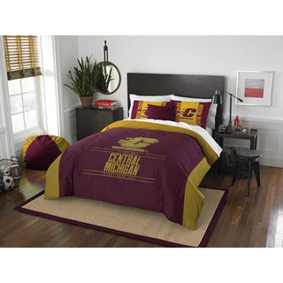 The Northwest Company Central Michigan Modern Take Red and Gold Polyester Full/Queen 3-piece Comforter Set