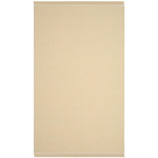 Safavieh Hand-Woven Montauk Flatweave Ivory/ Yellow Cotton Rug (3' x 5')