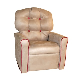 Dozydotes Oyster and Dusty Rose Accent 4-button Rocker Recliner