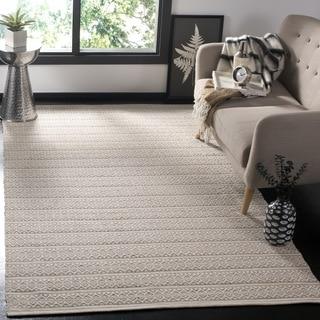 Safavieh Montauk Handmade Geometric Flatweave Ivory/ Grey Cotton Rug (3' x 5')