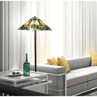 Amora Lighting Tiffany Style Mission Floor Lamp 63 inches High