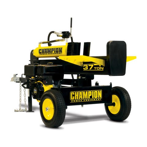 Champion 37-Ton Horizontal/Vertical Full Beam Gas Log Splitter with Auto Return