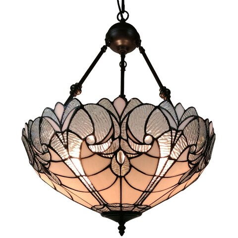 Amora Lighting AM263HL18 Tiffany Style Hanging Pendant Lamp 18 In Wide