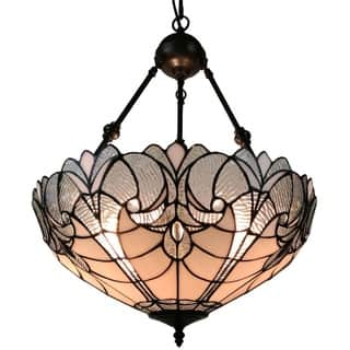 Art glass ceiling lights for less overstock amora lighting am263hl18 tiffany style hanging pendant lamp 18 in wide aloadofball