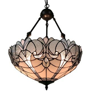 Art glass ceiling lights for less overstock amora lighting am263hl18 tiffany style hanging pendant lamp 18 in wide aloadofball Images