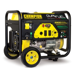 Champion Power Equipment 100231 5500 Watt Dual Fuel RV Ready Portable Generator with Wheel Kit