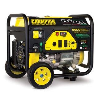 Champion Power Equipment 100231 5500 Watt Dual Fuel RV Ready Portable Generator with Wheel Kit