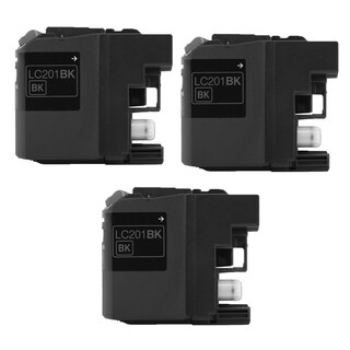 3PK Compatible LC201 BK XL Inkjet Cartridge For Brother MFC J460DW J480DW J485DW J680DW ( Pack of 3 )