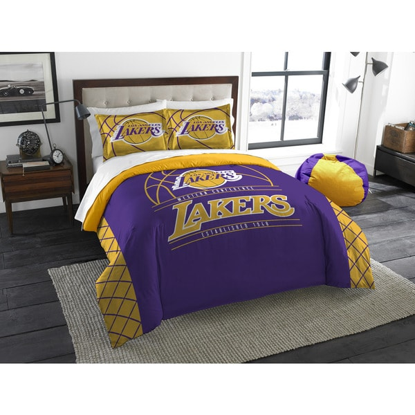 The Northwest Company LA Lakers Yellow/Purple Polyester Full/Qqueen 3-piece Comforters Set