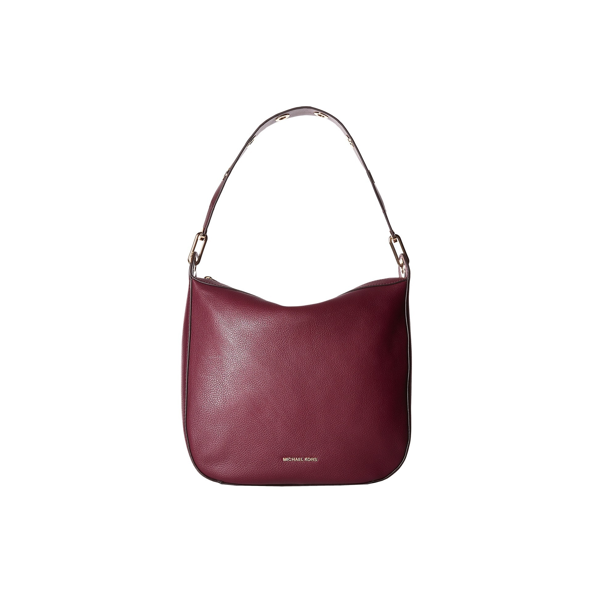 Michael Kors Women's Raven Large Plum Leather Shoulder Handbag