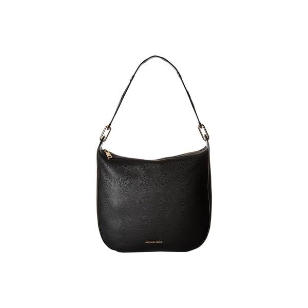 a021f9cab Shop Michael Kors Raven Black Leather Large Shoulder Handbag - Free ...