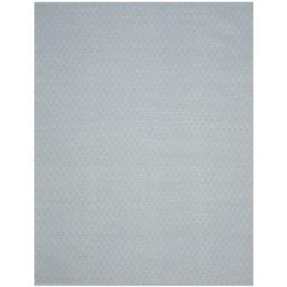 Safavieh Handmade Flatweave Montauk Eliina Casual Cotton Rug (9 x 12 - Ivory/Light Blue)