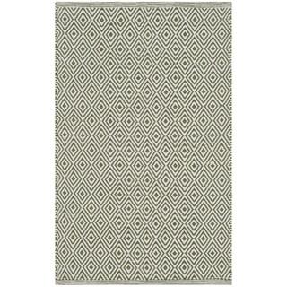 Safavieh Handmade Flatweave Montauk Eliina Casual Cotton Rug (3 x 5 - Ivory/Green)