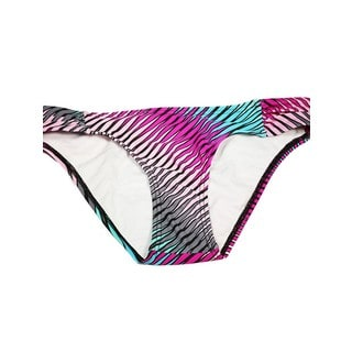 Bright Diagonal Multicolor Lycra Roushed Bottom