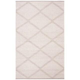 Safavieh Montauk Handmade Flatweave Grey Cotton Rug (4' x 6')