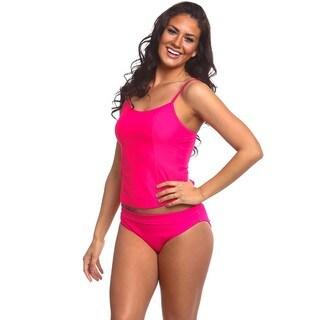 Women's Fushia Spandex Fold Over Bikini Bottom