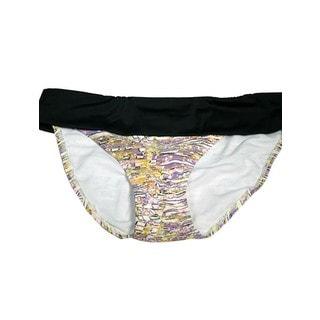 Women's Fold Over Ceramic Art Lycra Swim Bottom