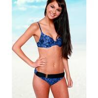 Blue Snake Lycra Buckle Bikini Bottom