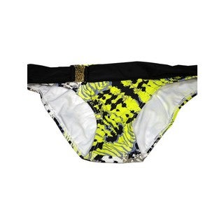 Women's Gypsy Multicolor Nylon and Spandex Buckle Bikini Bottom