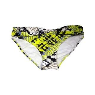 Black/Yellow Lycra Bikini Bottom