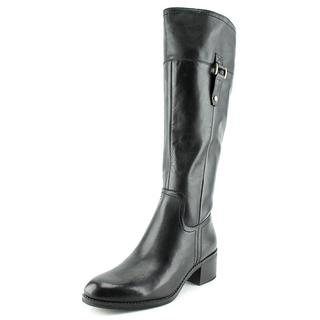 Franco Sarto Women's Lizbeth Black Leather Boots