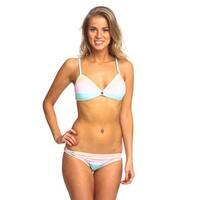 Women's Keyhole-style Multicolored Spandex/Nylon Bikini Set