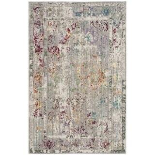 Safavieh Mystique Watercolor Grey Multi Silky Rug (4' x 6')