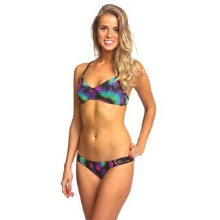 Women's Pool Green Racer Back Ballet Bikini Set