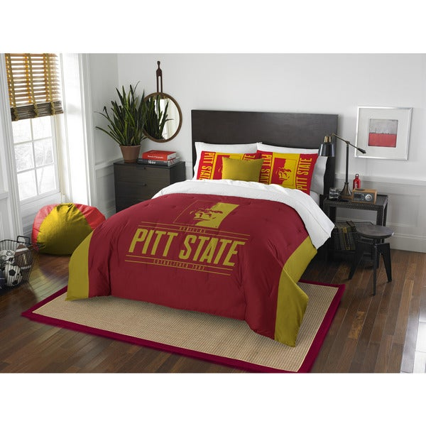 The Northwest Company COL 849 Pittsburgh State Modern Take Full/Queen 3-piece Comforter Set