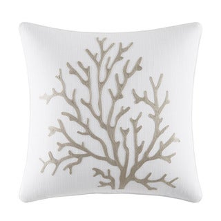 Nautica Tideway Cotton/Polyester 16-inch Square Embroidered Pillow
