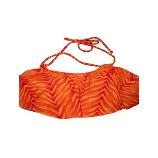 Women's Orange Animal Print Hanky Bikini Top (4 options available)