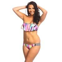 Women's Castle Beach Nylon and Spandex Hanky Bandeau Bikini Set