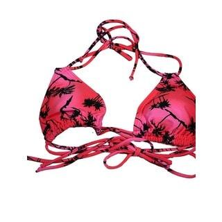 Women's Pink Palms Double Slide Tri Top