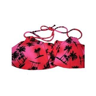 Pink Palms Hanky Top